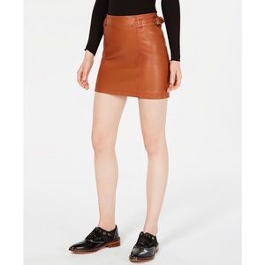 NWT Free People Vegan Leather Skirt